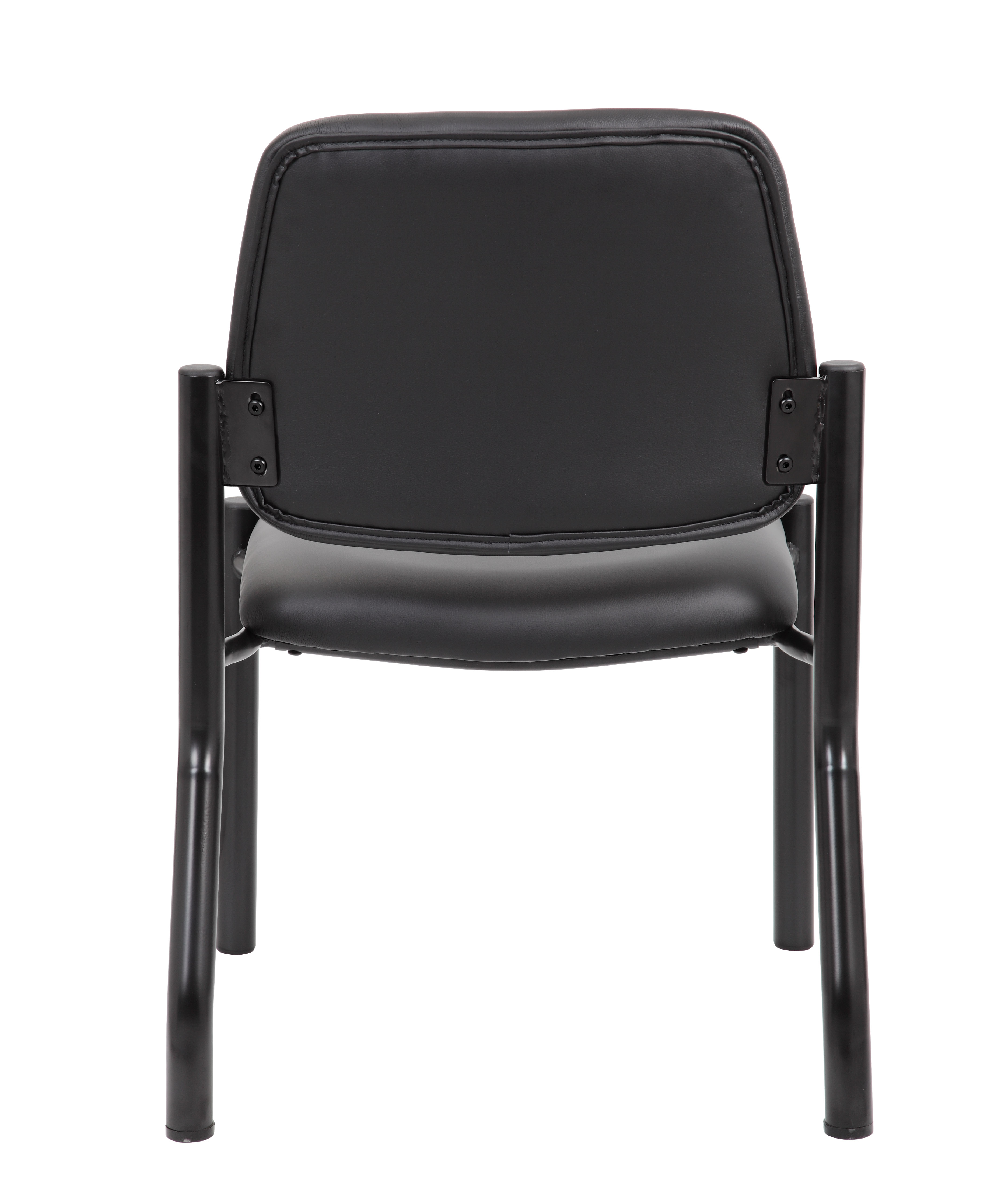 Boss Mid Back Armless Guest Chair Antimicrobial Vinyl