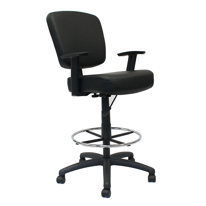 Peachy Boss Oversized Drafting Stool With Foot Rest Black Dailytribune Chair Design For Home Dailytribuneorg