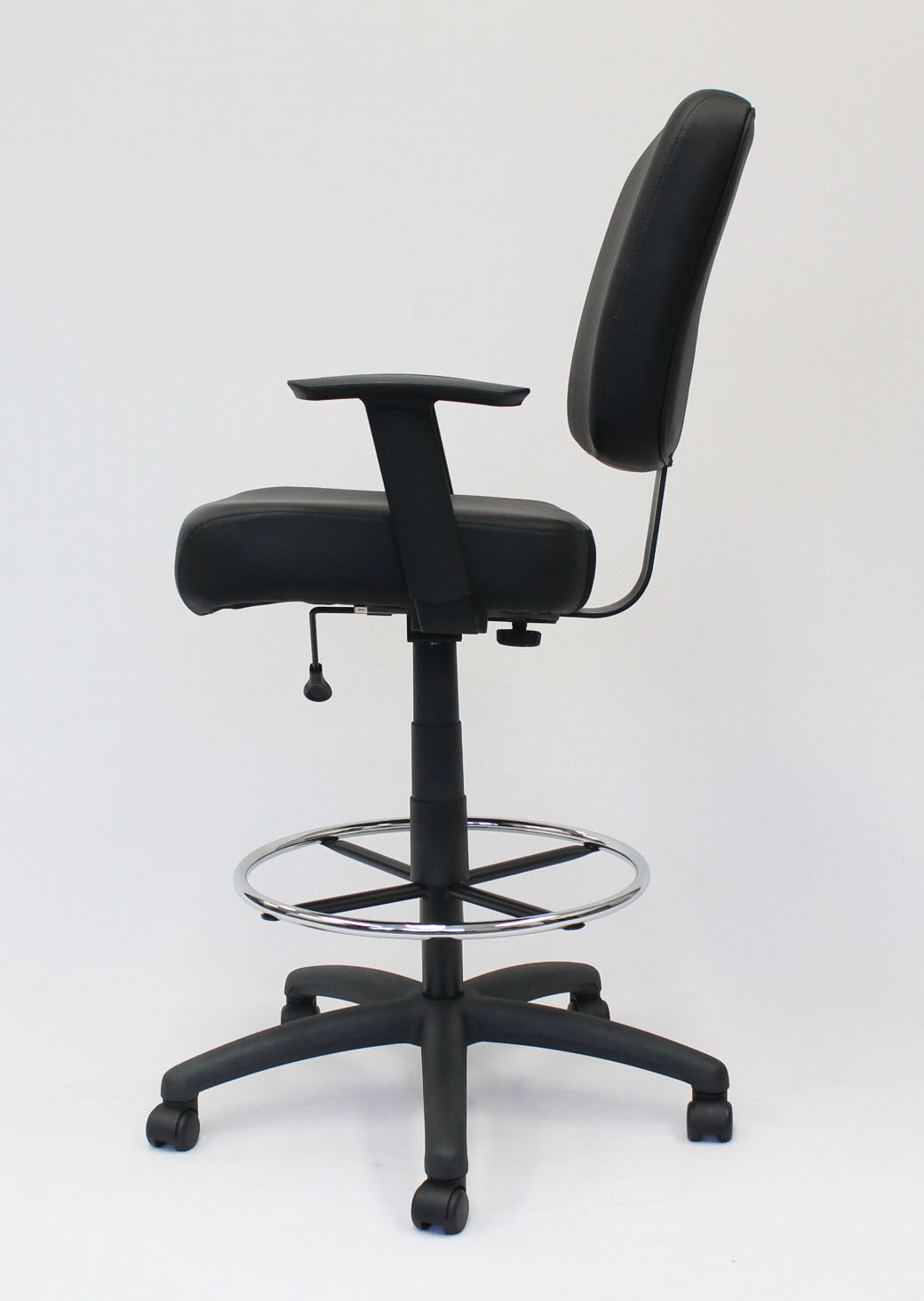 Boss Oversized Drafting Stool with Foot Rest Black & Boss Oversized Drafting Stool with Foot Rest Black u2013 BossChair