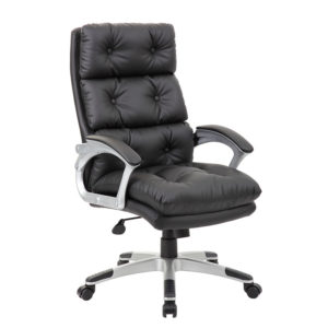 Boss Executive On Tufted High Back Leatherplus Chair