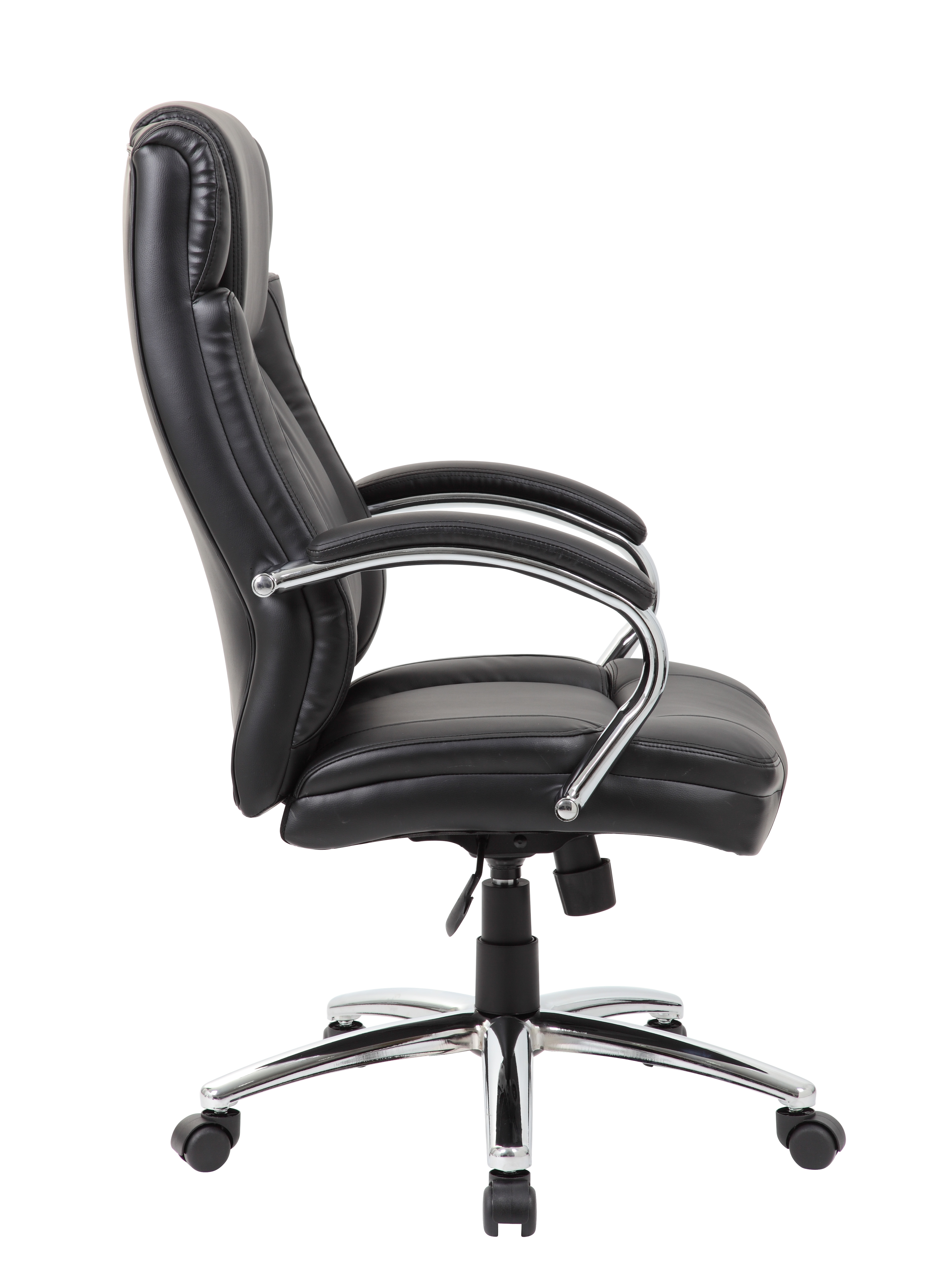 Boss High Back Leatherplus Exec Chair W Chrome Base