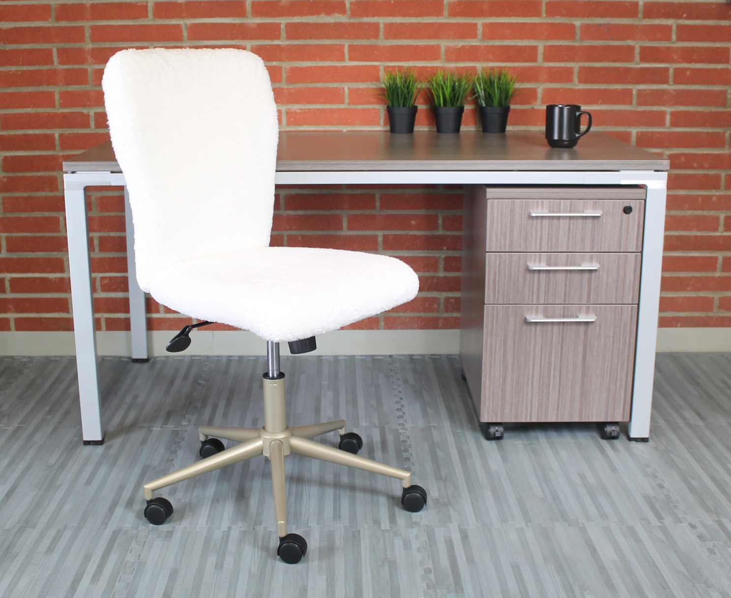 white office crystal modern chair leatherette