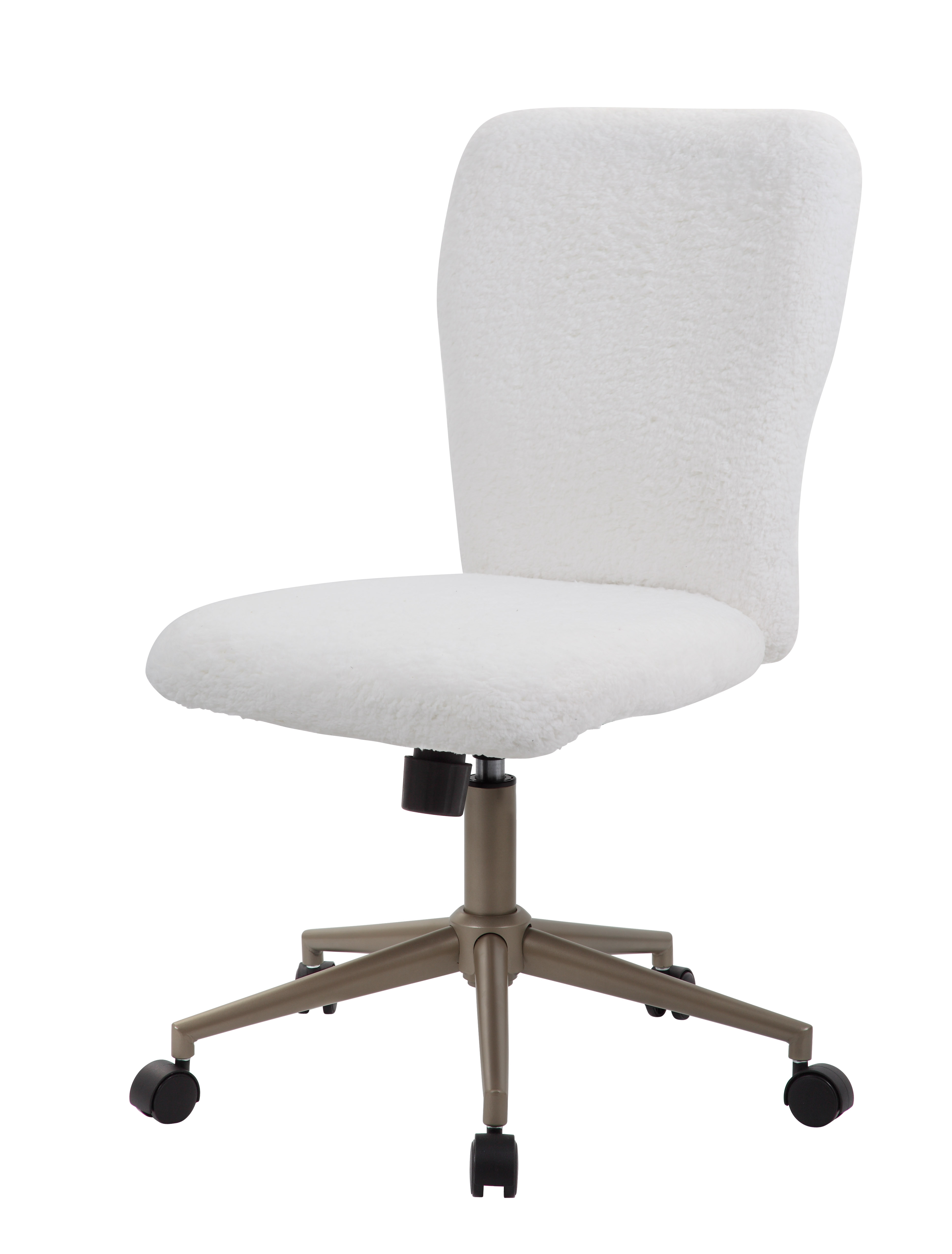 Boss Fur Make Up To Modern Office Chair White