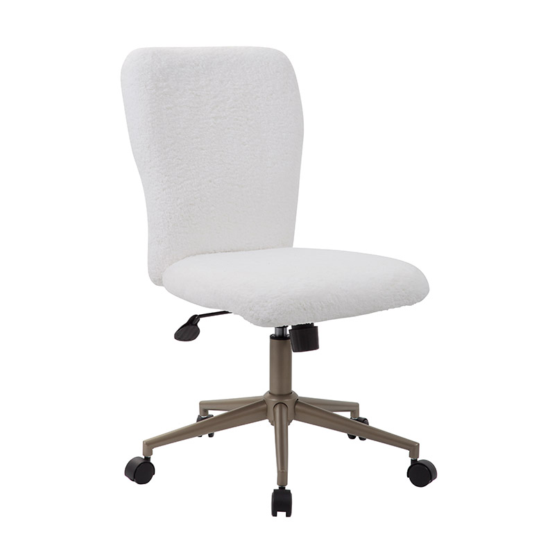 Prime Boss Tiffany Fur Make Up To Modern Office Chair White Caraccident5 Cool Chair Designs And Ideas Caraccident5Info