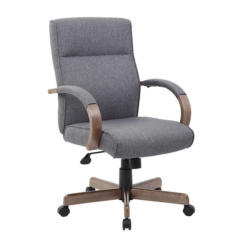 Superior Boss Modern Executive Conference Chair Grey Linen