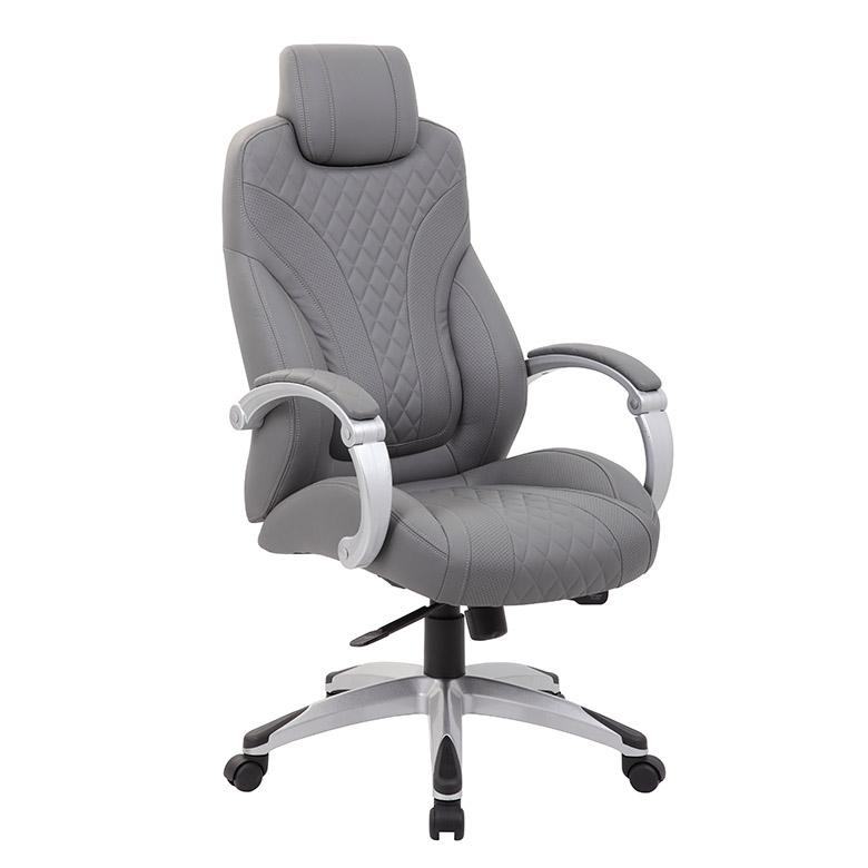 Boss Hinged Arm Executive Chair With Synchro Tilt, Grey