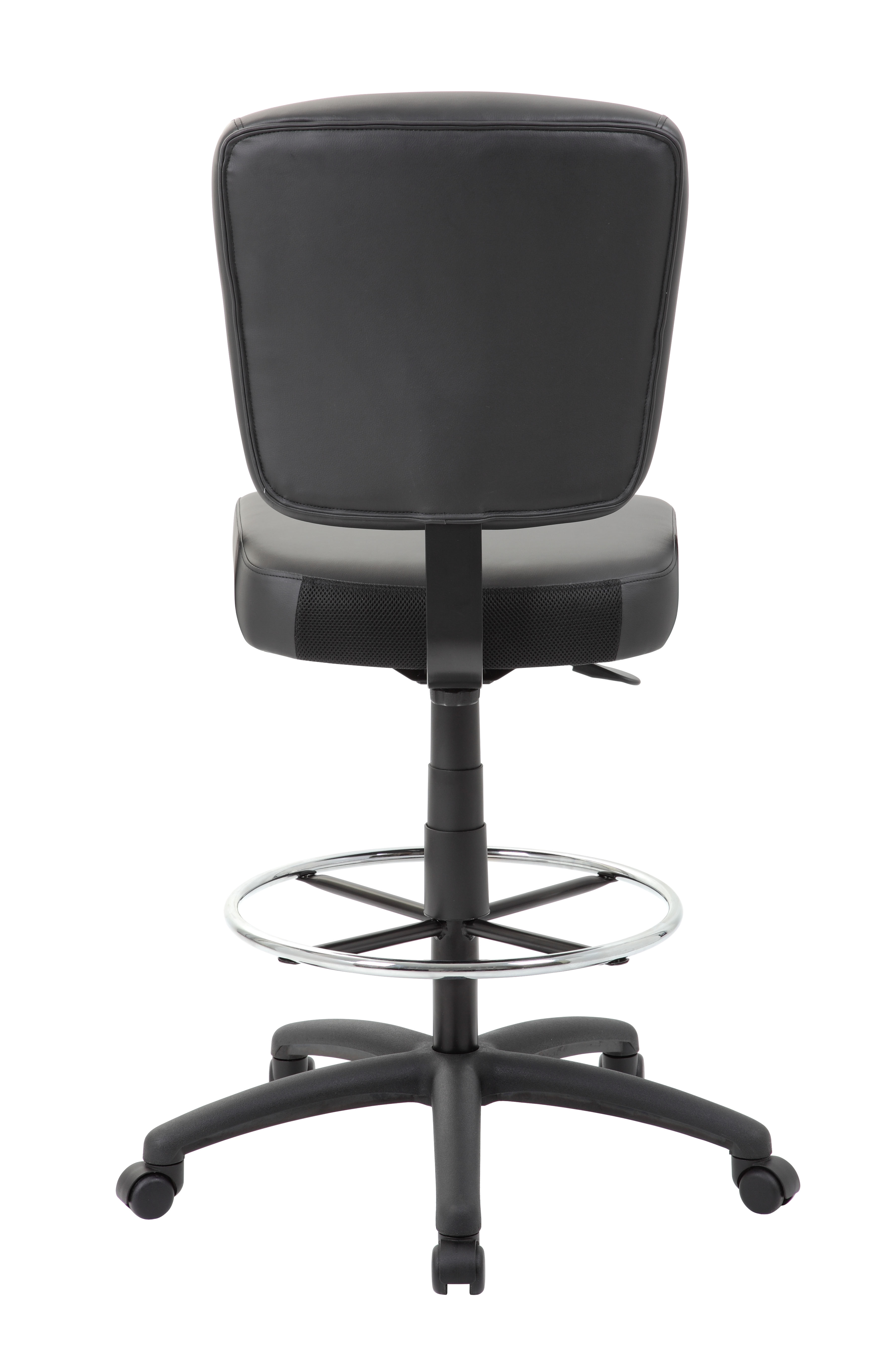 Boss Oversized Drafting Stool With Foot Rest Black Bosschair