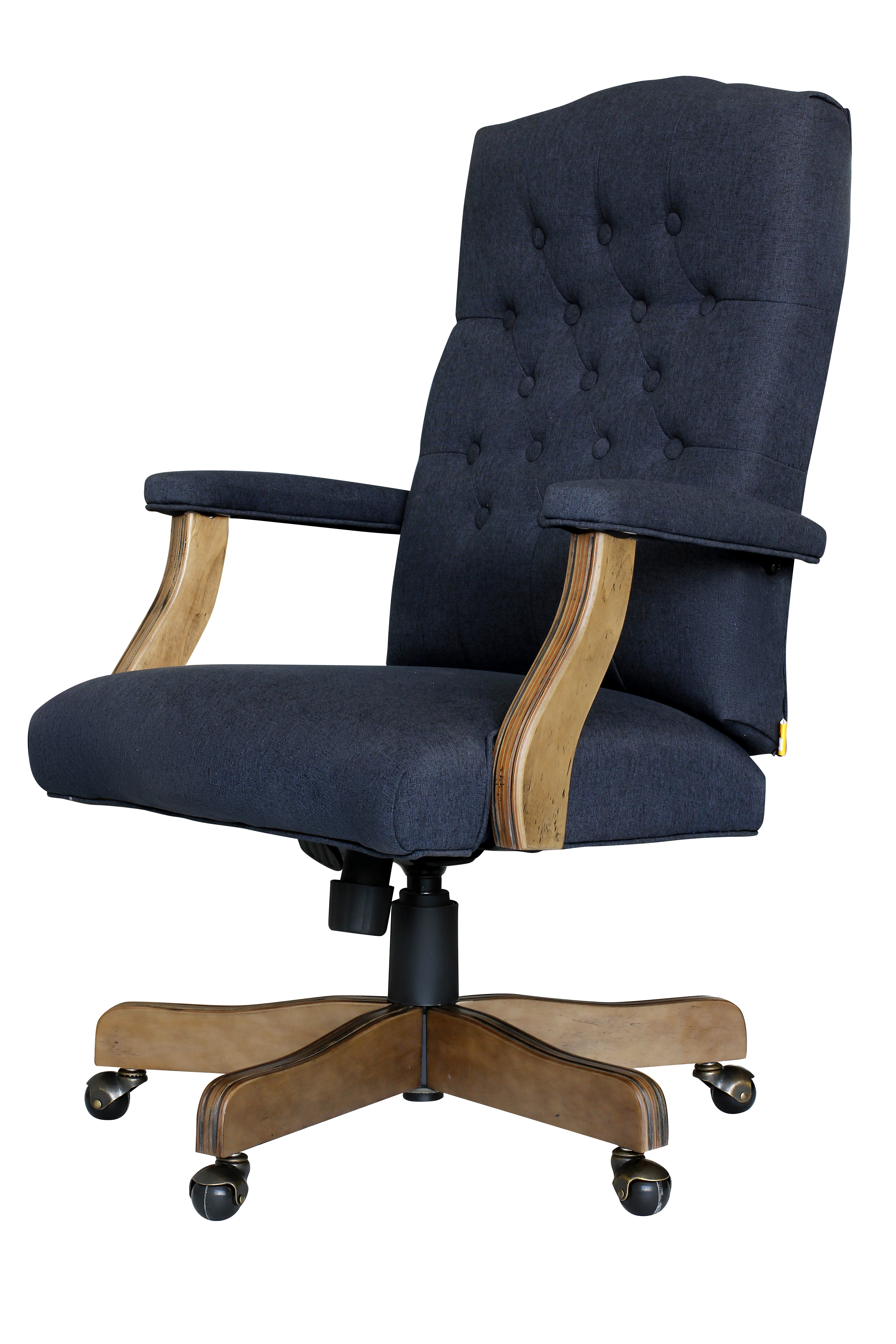 Boss Executive Denim Blue Commercial Grade Linen Chair