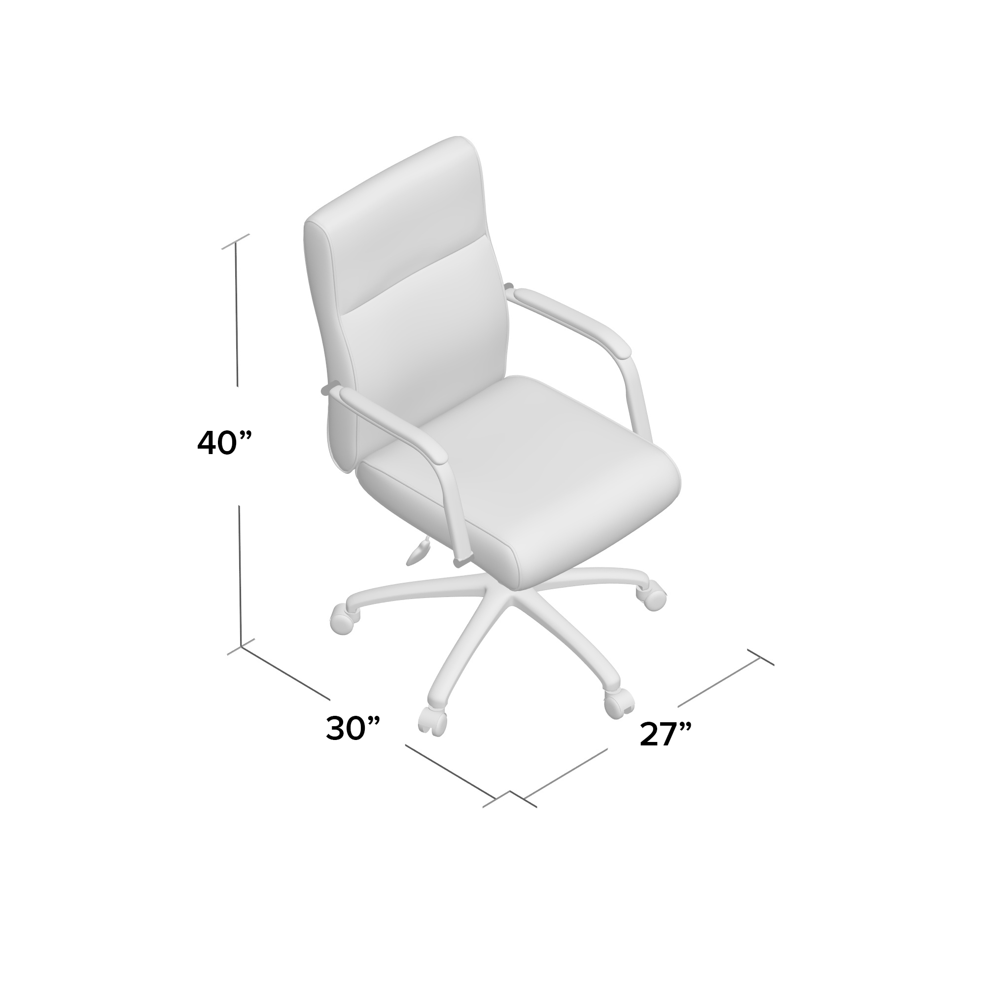 Swell Boss Modern Executive Conference Chair White Andrewgaddart Wooden Chair Designs For Living Room Andrewgaddartcom