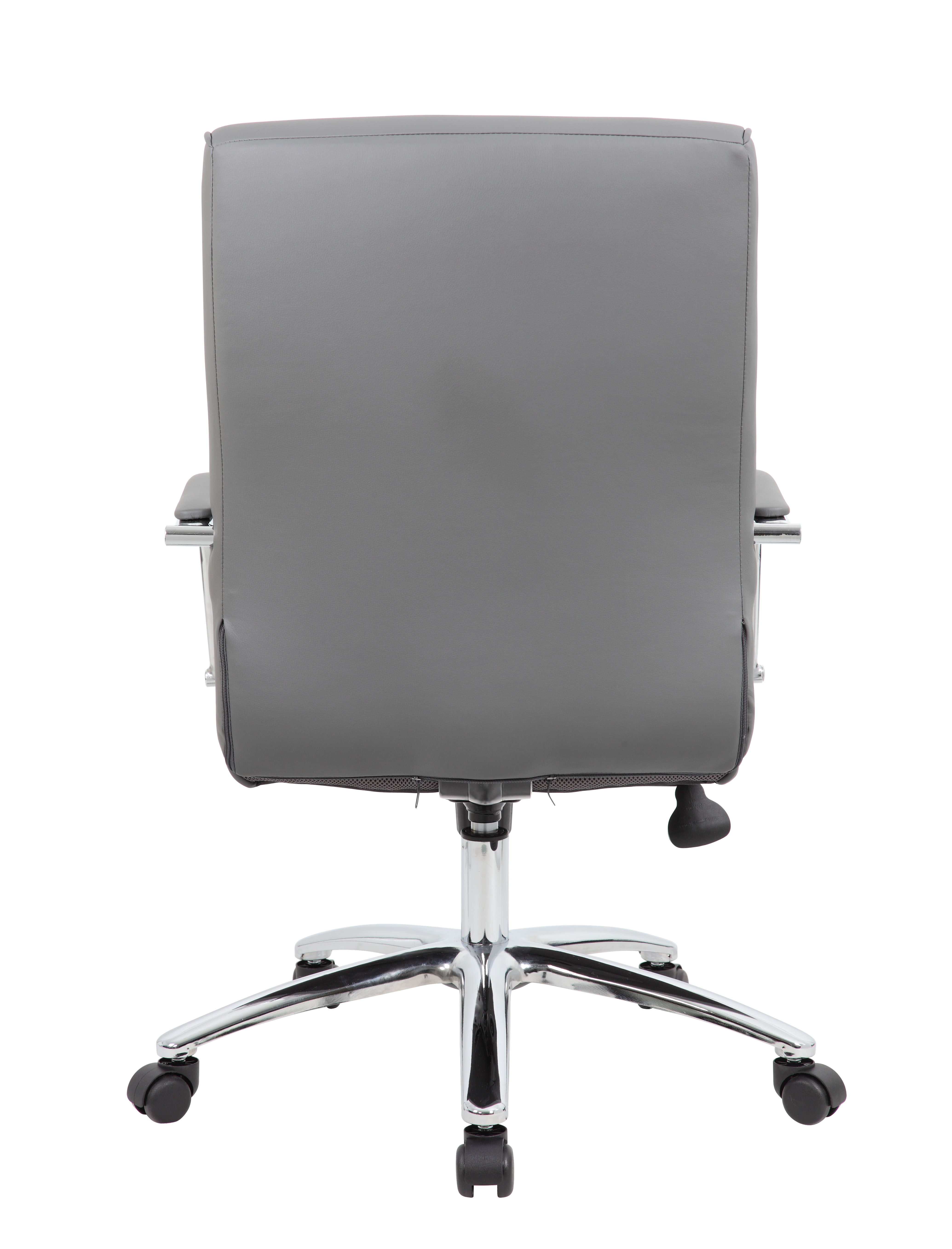 Superieur Boss Modern Executive Conference Chair Ribbed Grey