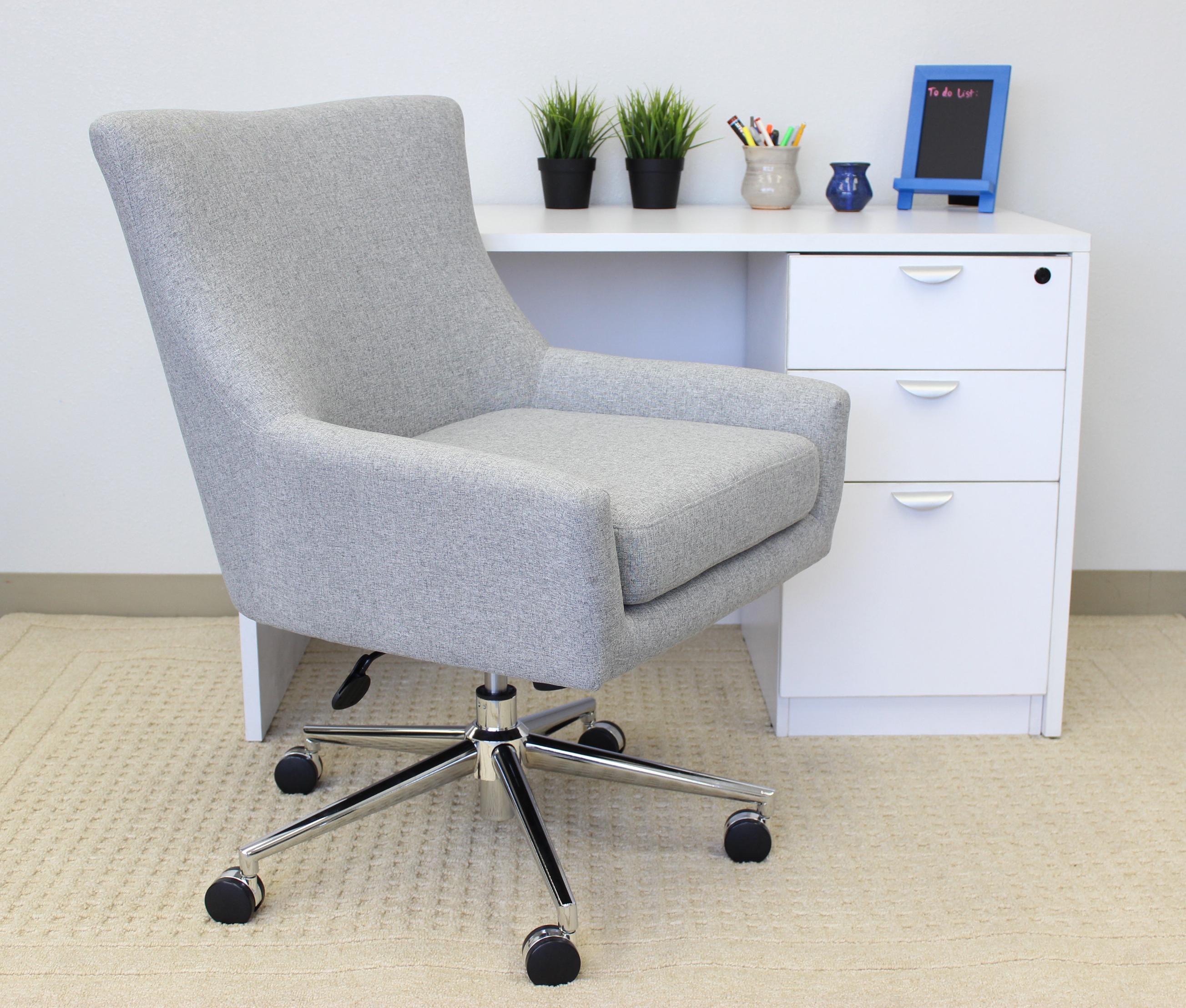 Boss linen accent desk chair granite