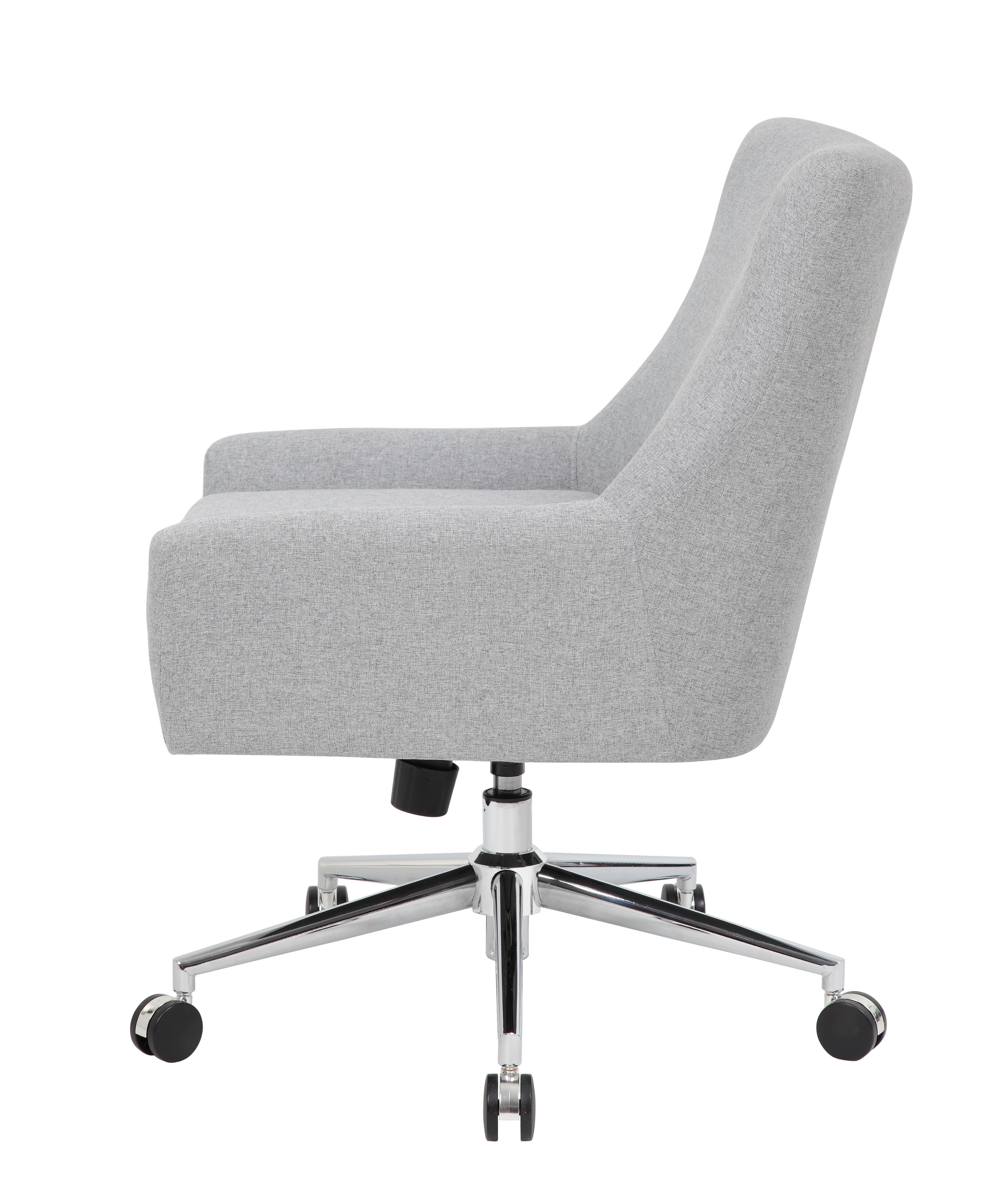 Boss Linen Accent/Desk Chair, Granite