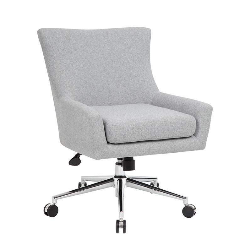 Boss Linen Accent Desk Chair Granite Bosschair