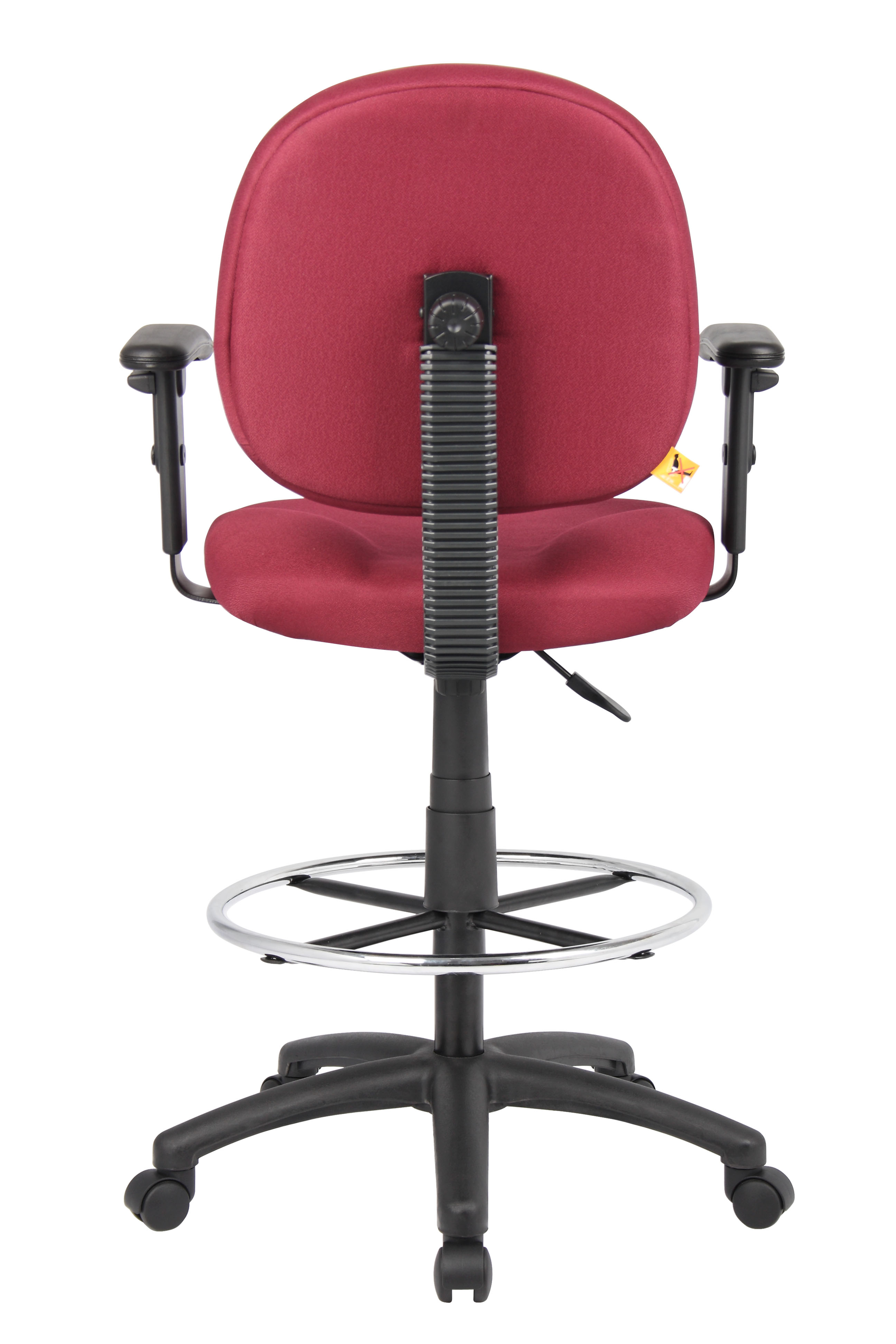 Boss Stand Up Fabric Drafting Stool With Foot Rest
