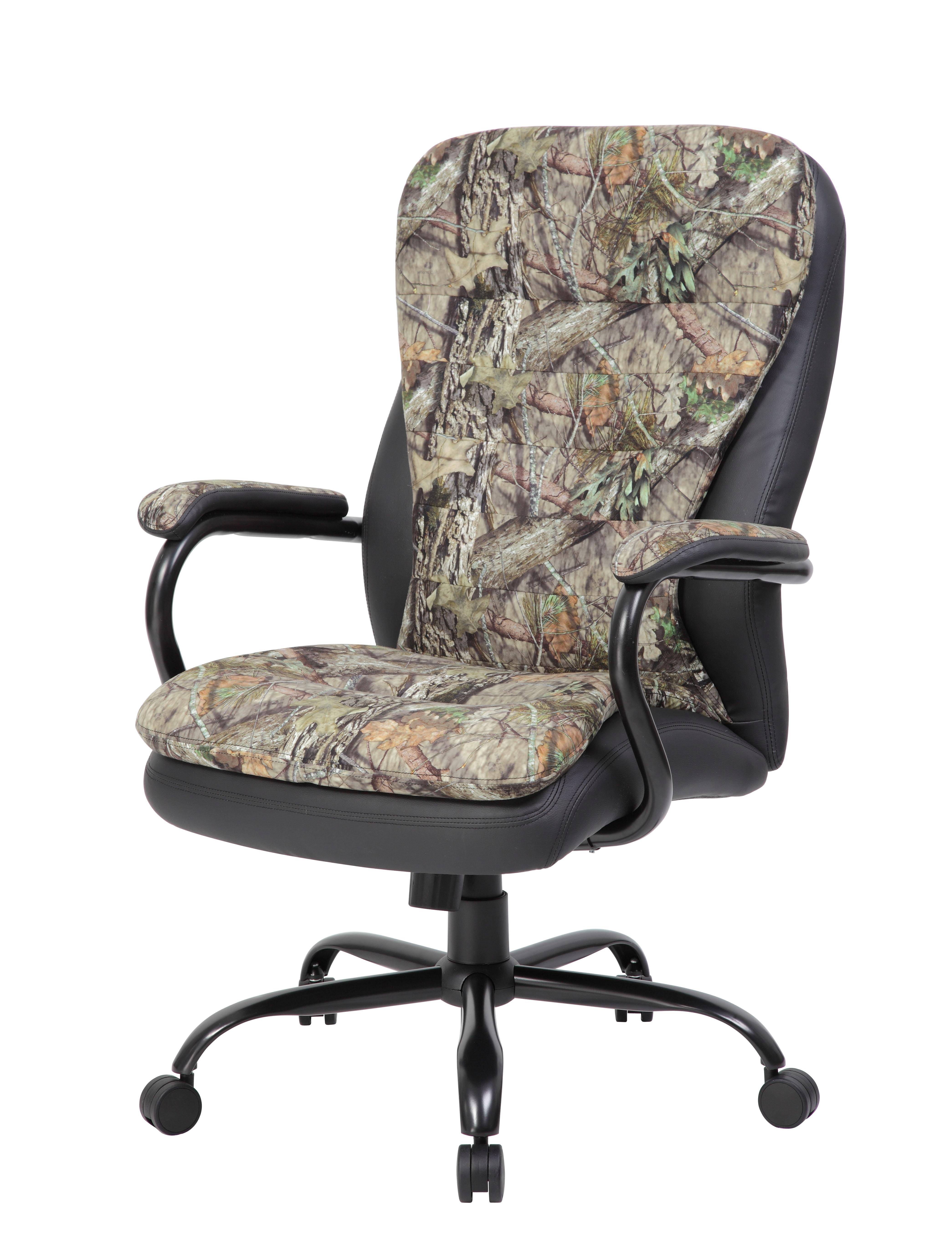Boss Heavy Duty Double Plush Mossy Oak Chair 400 Lbs