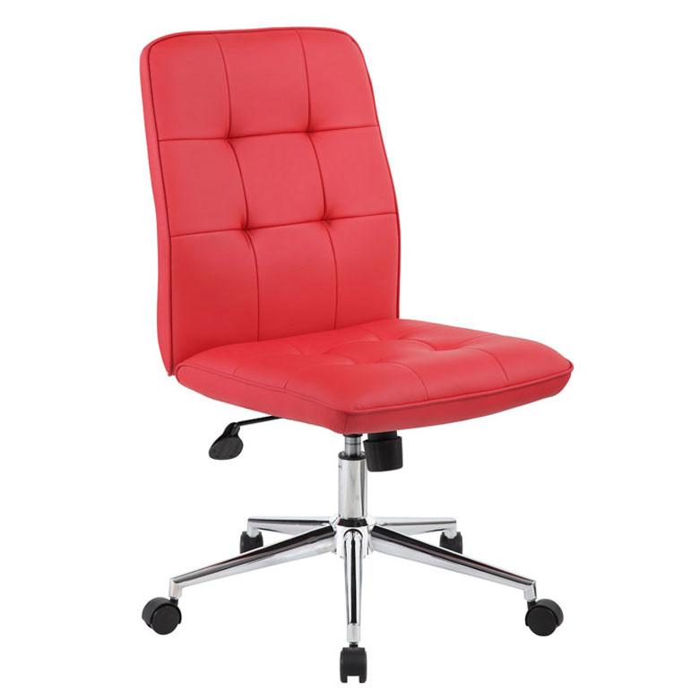 Boss Millennial Modern Home Office Chair Red Bosschair
